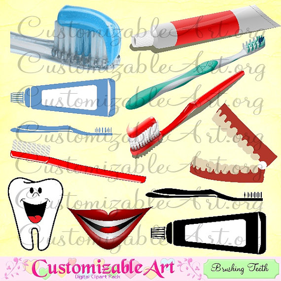 Toothbrush clipart mouth #6