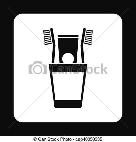 Toothbrush clipart simple #14