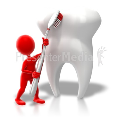 Toothbrush clipart single tooth #3