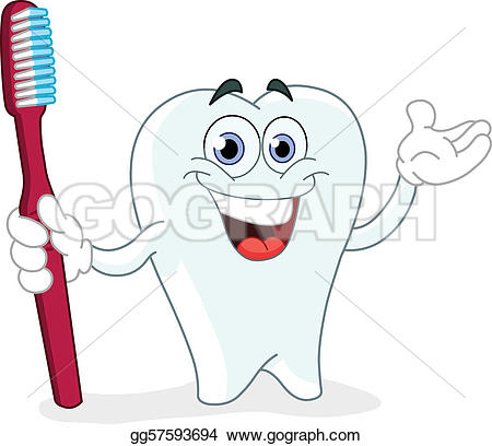 Toothbrush clipart single tooth #4
