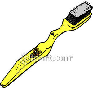 Yellow clipart toothbrush Free Clipart Common Clipart Picture