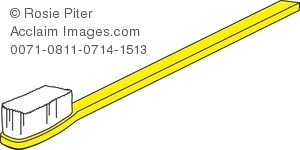 Yellow clipart toothbrush Illustration of Royalty a Yellow
