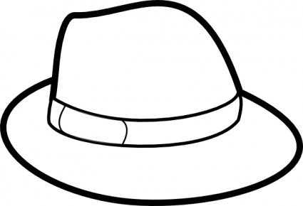 Monochrome clipart hat Free Images Clipart Black And