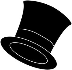 Drawn top hat clip art Hat detective%20clipart%20black%20and%20white And Free Clipart