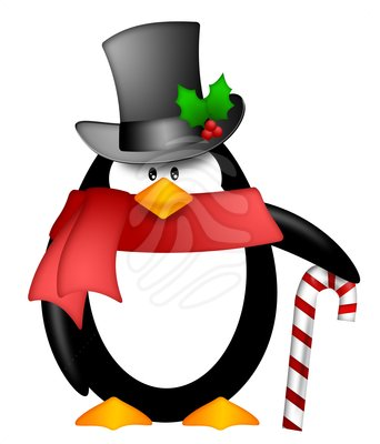 Penguin clipart holiday Red clipart clipart top scarf