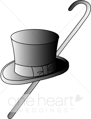 Classy clipart cane Cane and Hat Clipart Top