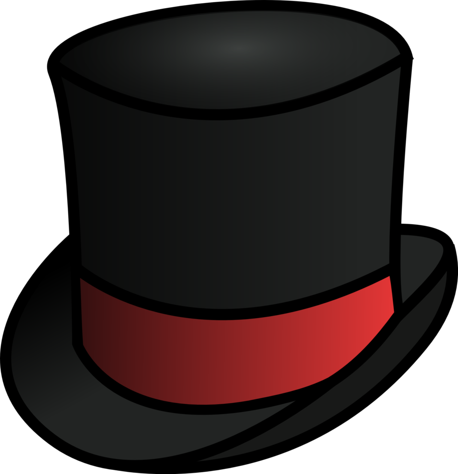 Drawn top hat upside down Hat Clipart Hatter Mad Hats