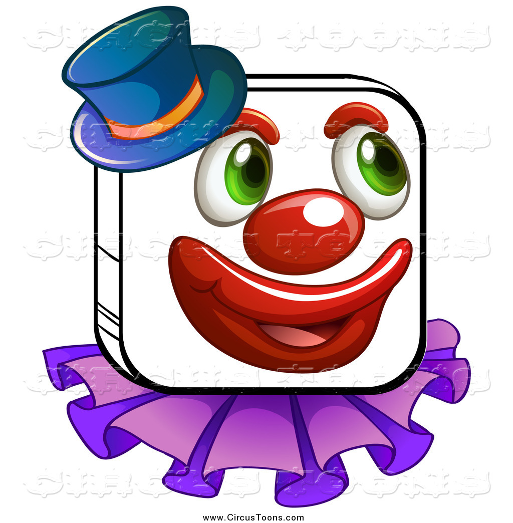 Circus clipart hat Of Circus Wearing Top Square