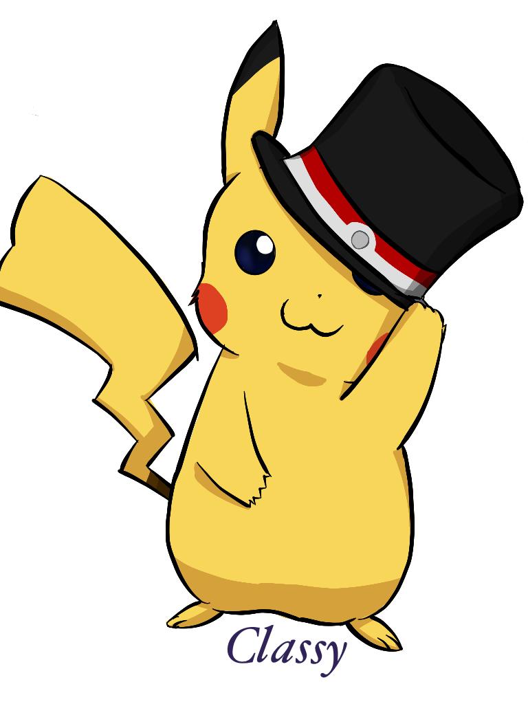 Classy clipart top hat On Hat MahokkaSaphire DeviantArt Pikachu