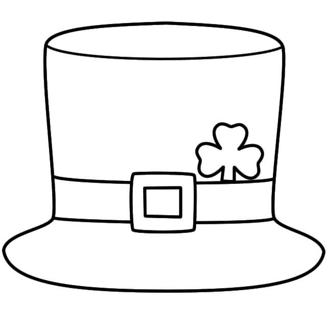 Top Hat clipart color  Hat Coloring Download Page