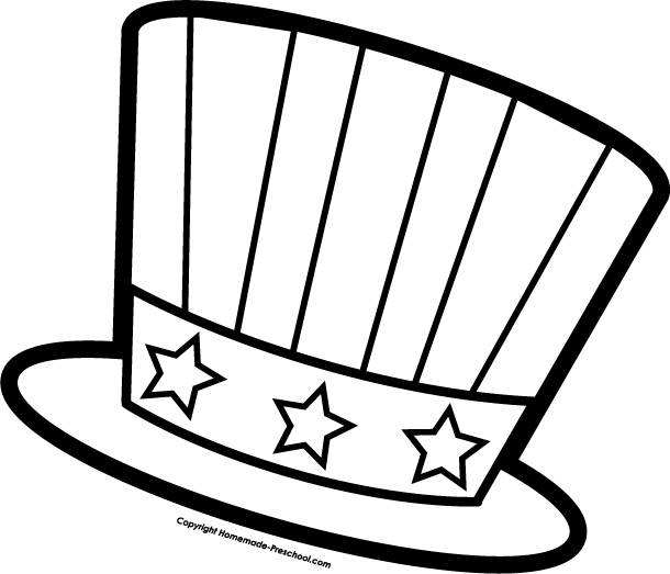 Top Hat clipart color Clipart for July Fun Fun