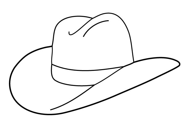 Cowboy clipart chicken Free Outline Download Hat on