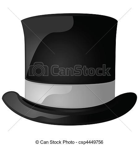 Top Hat clipart graphic Clip black csp4449756 a