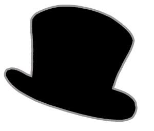 Top Hat clipart graphic Black image art art clipart