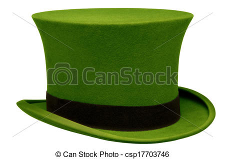 Top Hat clipart graphic Green  green Vintage Vintage