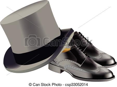 Top Hat clipart grey Art top shoes Clip black