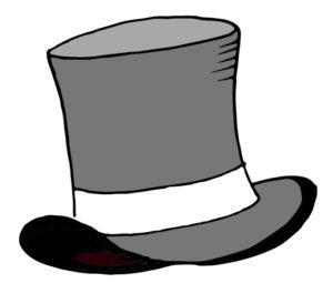 Top Hat clipart grey Hat Comparison White Simple Black