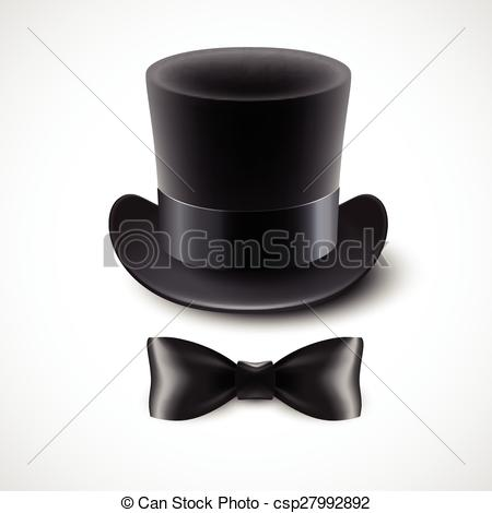 Top Hat clipart illustration Vintage top Vector tie EPS