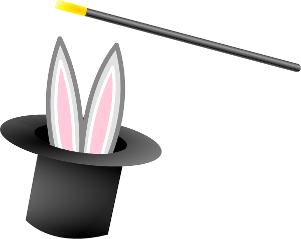 Bunny clipart magic hat This art as: Download clip