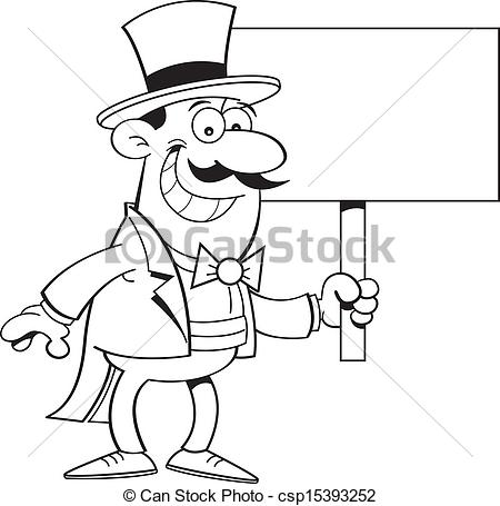 Top Hat clipart man Hat Si Top csp15393252 in