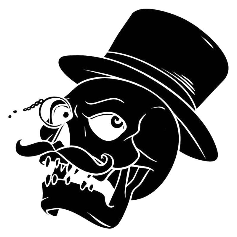 Drawn top hat tengkorak From Top Top Hat Mustache