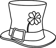Top Hat clipart outline Free Hat White Black Pictures