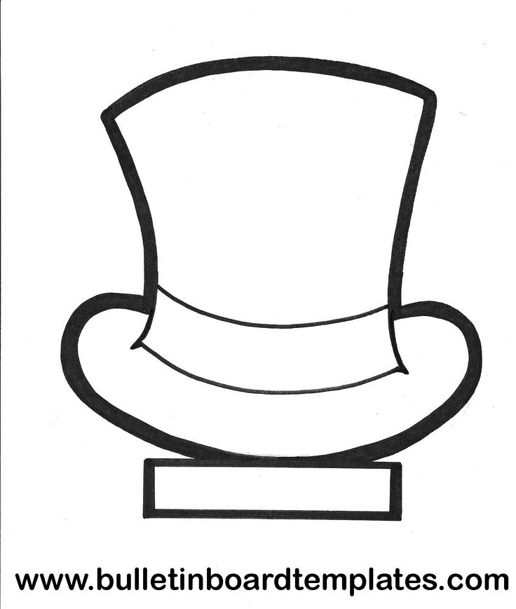 Top Hat clipart outline Ideas and template Top on