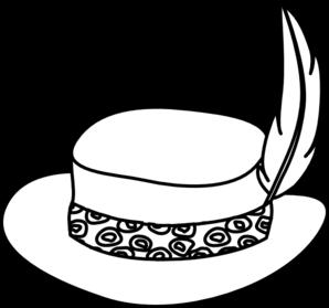 Top Hat clipart outline At Art vector Clker online