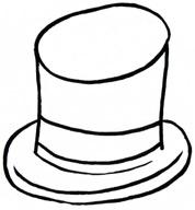 Top Hat clipart outline Clipart Outline Images Hat top%20hat%20outline%20clipart