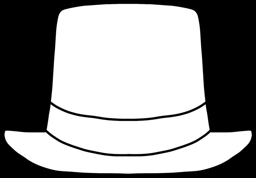 Top Hat clipart outline Top Art Hat Hat com