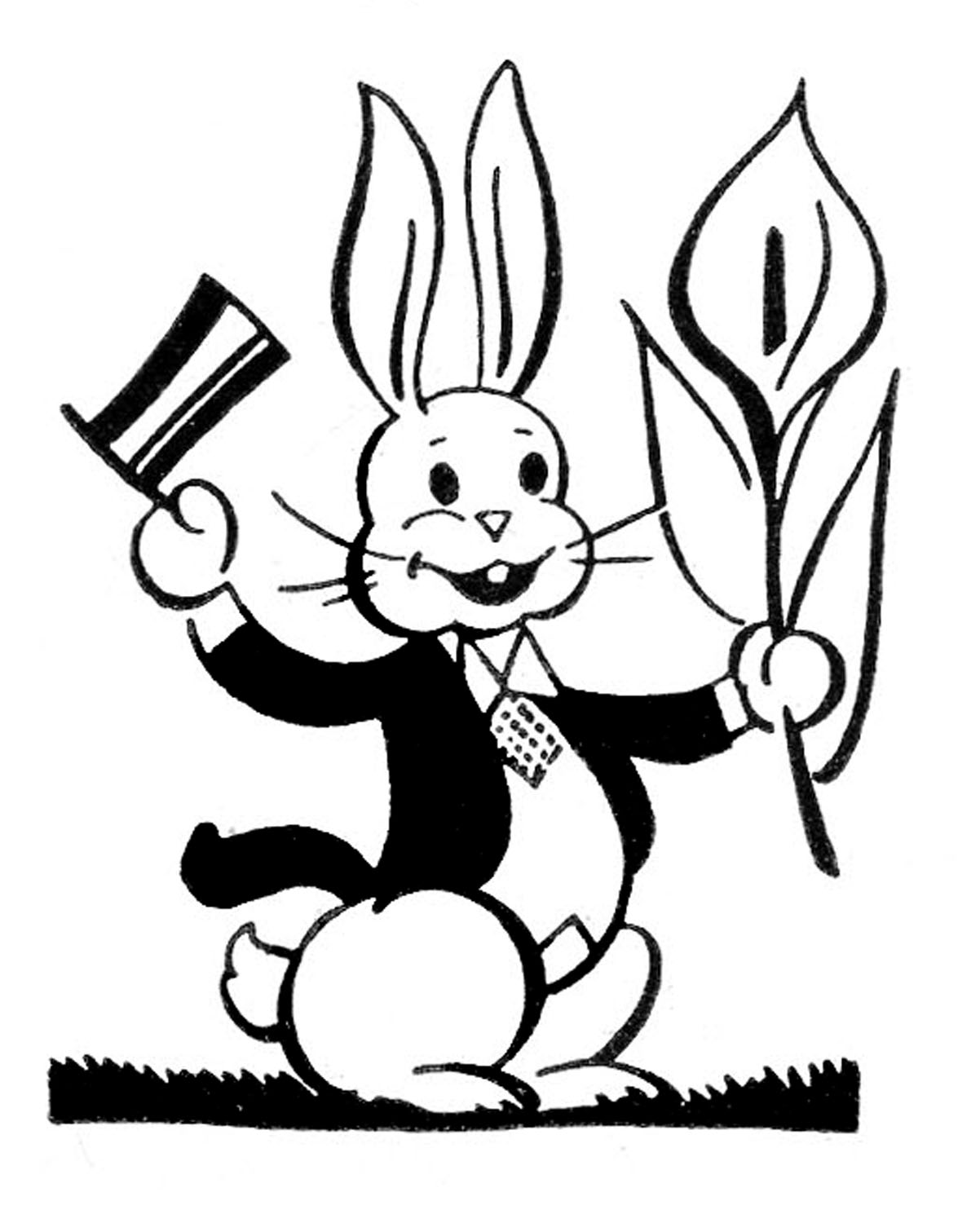 Top Hat clipart retro Easter The Images Retro Bunny