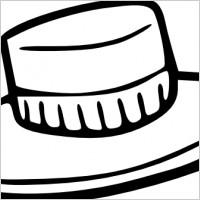 Straw Hat clipart scarecrow hat #3
