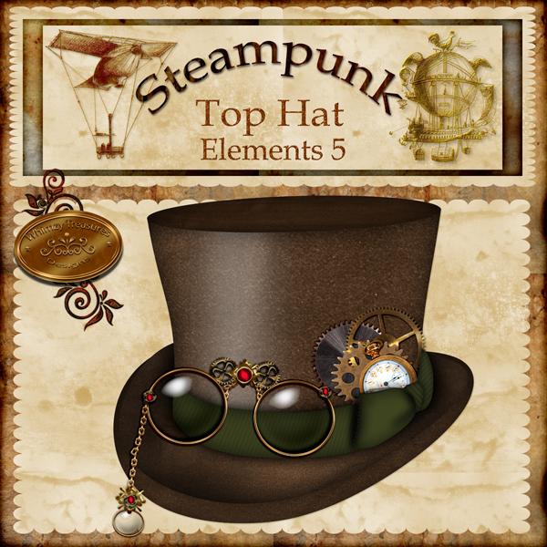Top Hat clipart steampunk Steampunk steampunk Hat digital Cliparts