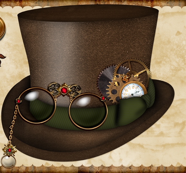 Top Hat clipart steampunk Outline Top clipart hat Whimzy