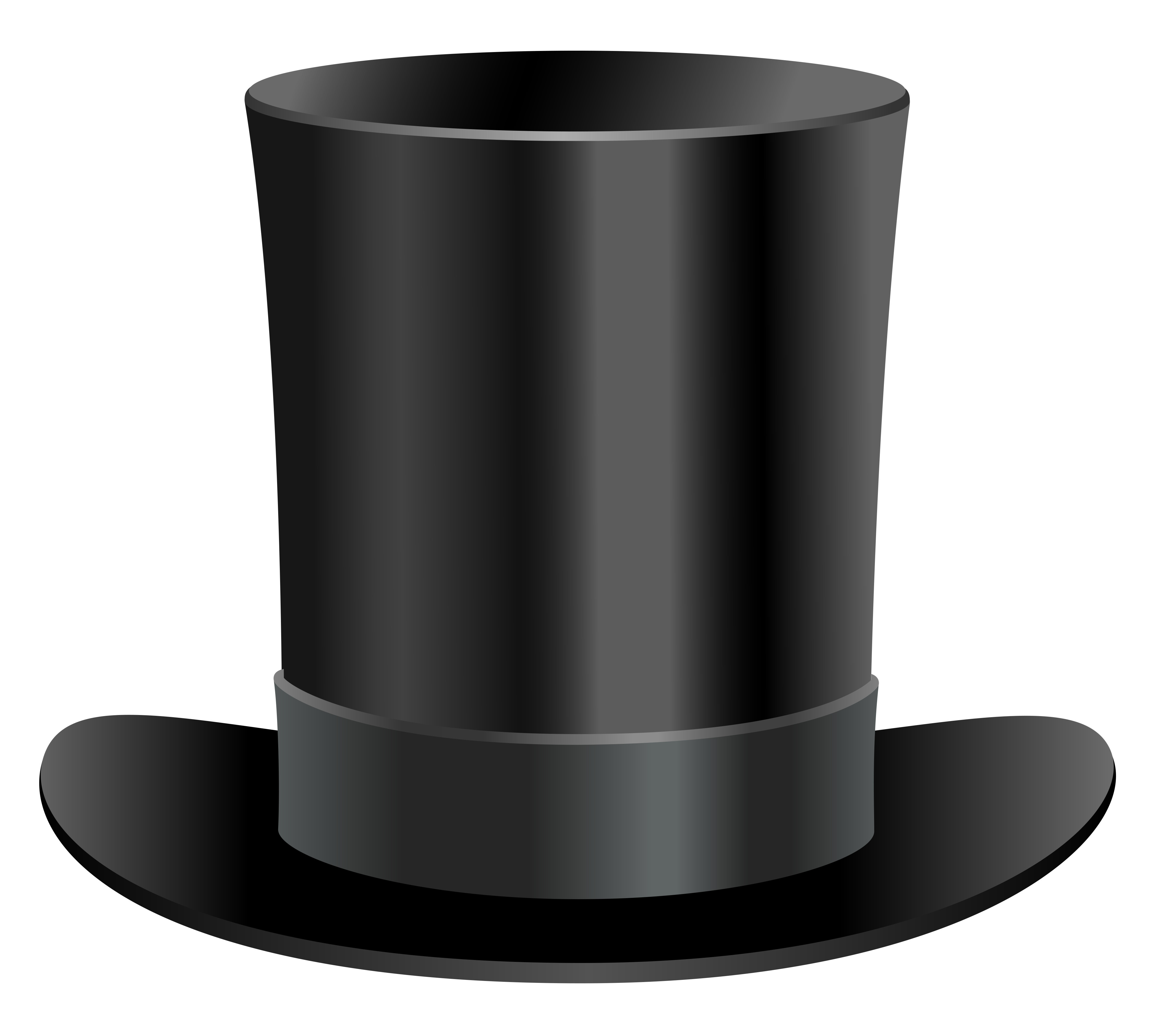 Top Hat clipart transparent View Black  Quality Top