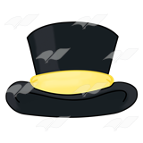 Top Hat clipart yellow Art Hat Top a band