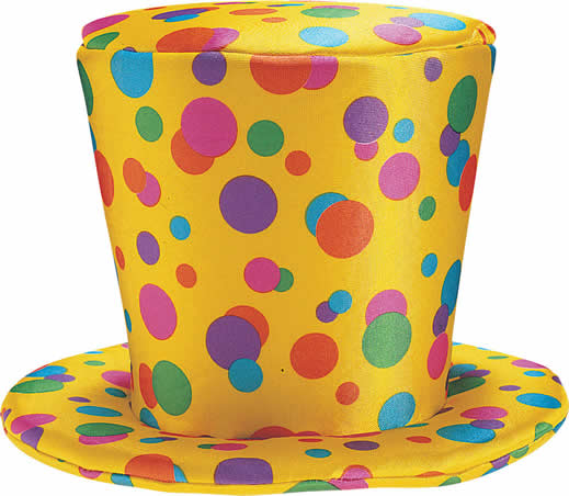 Top Hat clipart yellow (RUB47705) 00 Clown Dot Treasure