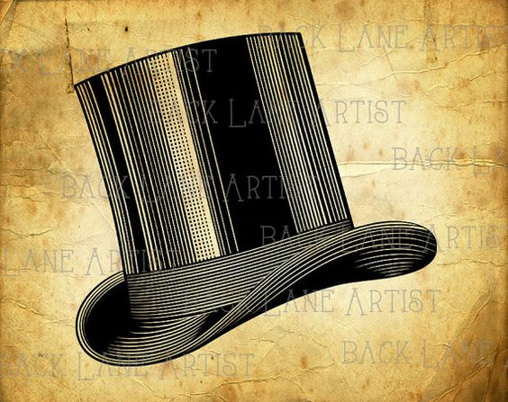 Top Hat clipart yellow Clipart clipart hat illustration instant