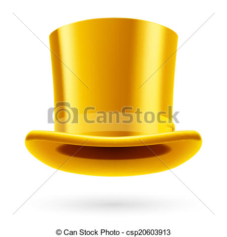 Top Hat clipart yellow Of background Vector Yellow white