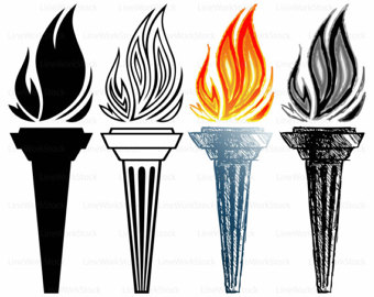 Torch clipart hawaii Burning torch clipart torch files