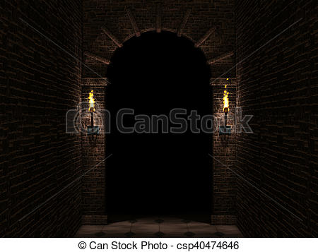 Torch clipart castle Arch with arch Drawing and