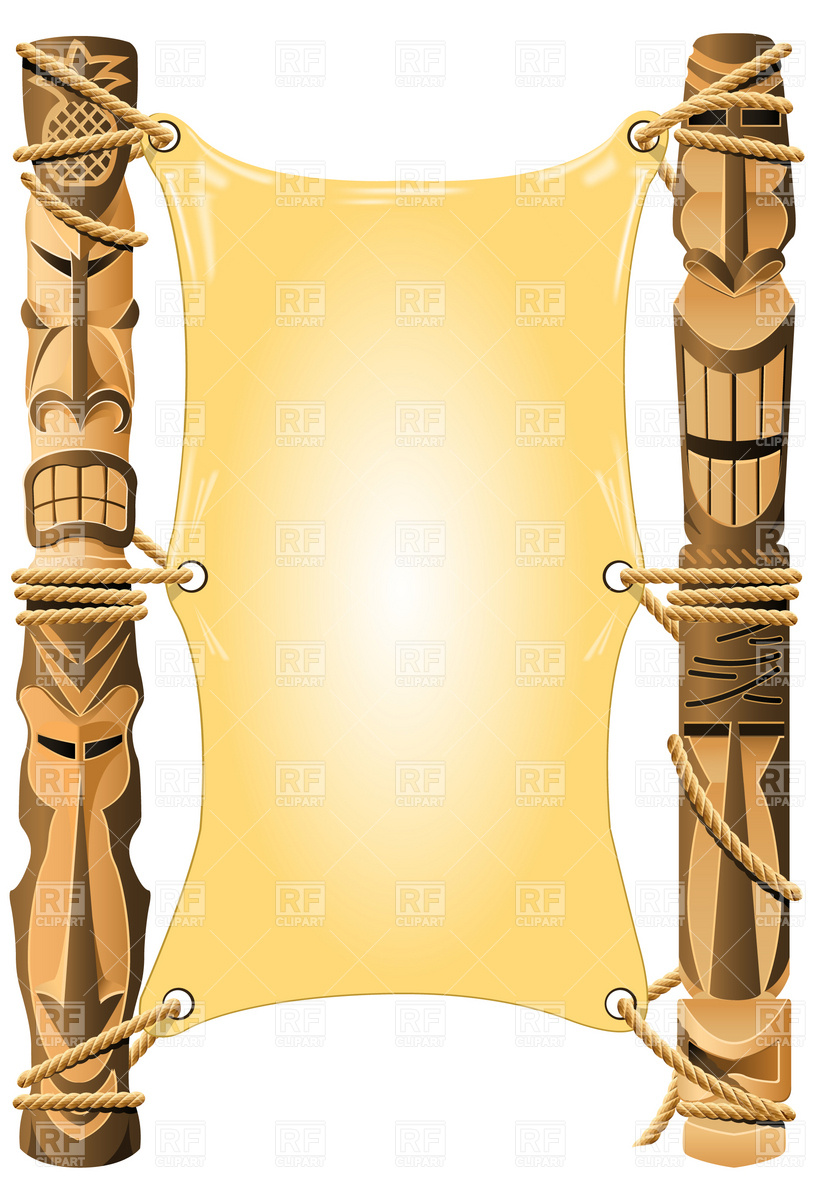 Torch clipart hawaii Tiki Blank 4862 invitation Borders