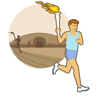Torch clipart runner Running athlete with clipart Sports