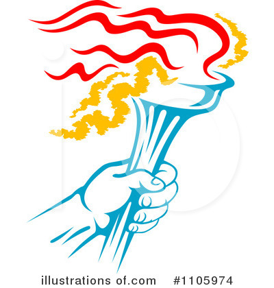 Torch clipart runner #1105974 Clipart Illustration clipart images