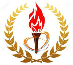 Torch clipart sportsfest Fire Stickers and Food: Shopping