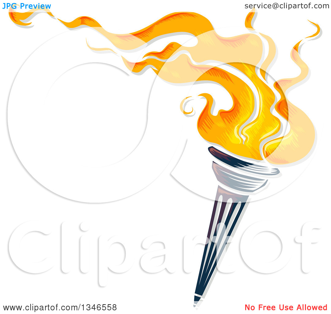 Torch clipart sportsfest Clipart Flaming BBCpersian7 Vector collections