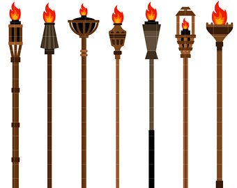 Torch clipart tiki torch Clip Fire Making Tiki for