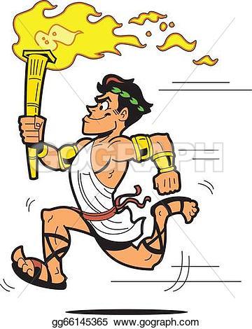 Torch clipart torch bearer In Vector bearer toga Clipart