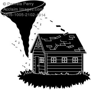 Tornado clipart silhouette A Silhouette Clip Roof a