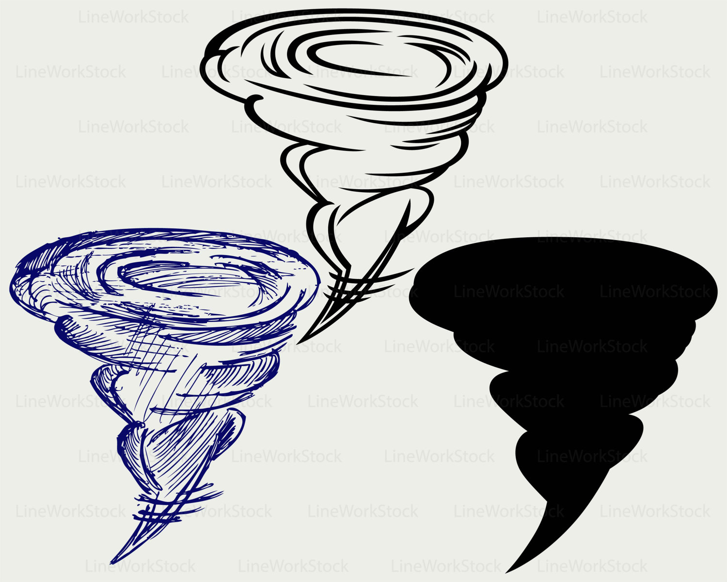 Tornado clipart silhouette Silhouette This clipart file supercell